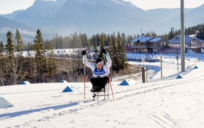Anja Wicker beim Weltcup 2017 in Canmore
